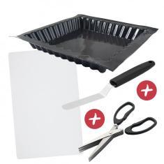 Offre Moule tarte carrée cannelée FLEXIPAN® ORIGINE