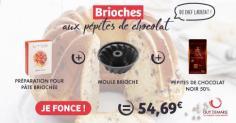 """Le kit brioches aux pépites de chocolat """"faites-maison"""""""