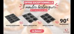 Offre éphémère Moules historiques FLEXIPAN® ORIGINE