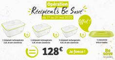 Offre Récipients Rectangulaires Be Save®