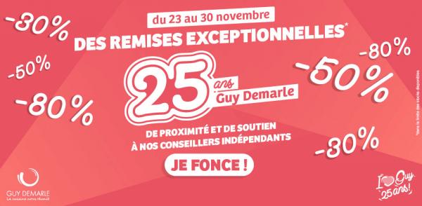 Offres anniversaire 25 ans Guy Demarle