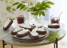 Savarins au chocolat à la crème de coco