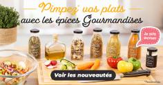 Nouvelles gamme d'épices Gourmandises