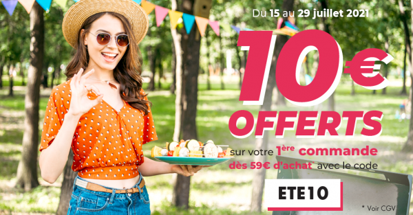 10€ offerts sur votre première commande